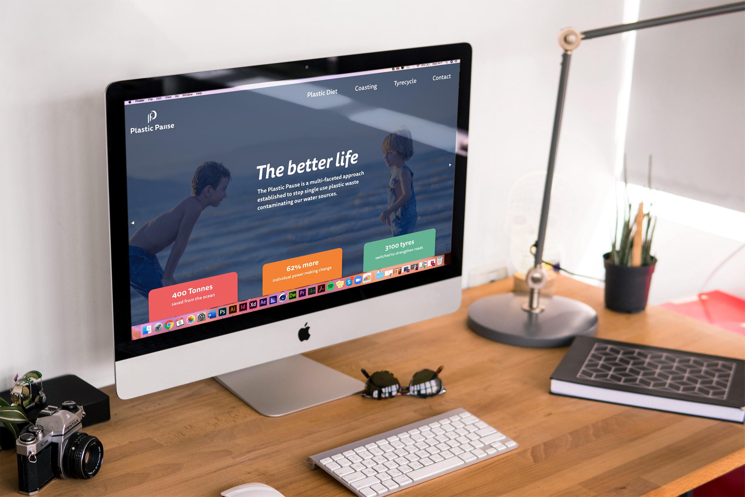 2020 vision desktop mock up website