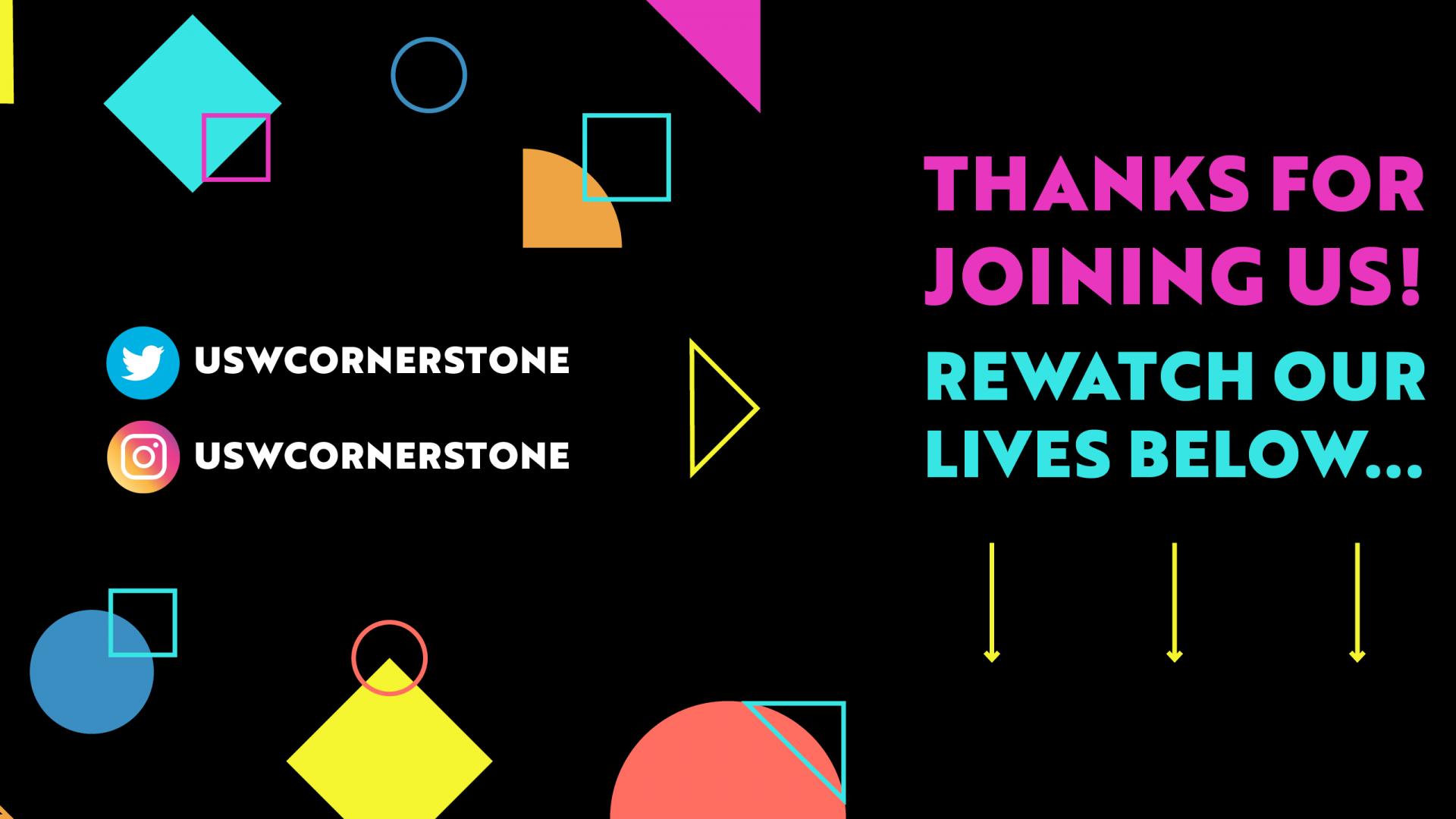 Cornerstone Thanks Banner